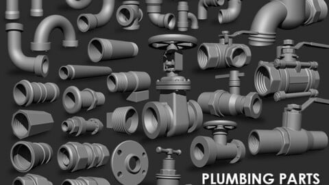 Plumbing Parts IMM Brush Pack (35 in One)