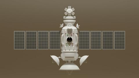 Sci Fi Satellite 3D Model