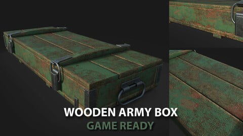 Wooden Army Box