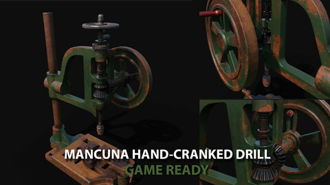 Typical Mancuna Hand-Cranked Drill