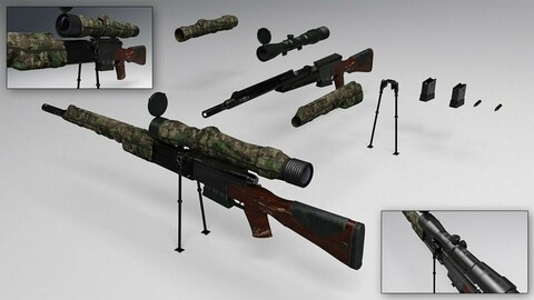 Sniper Rifle and Poses