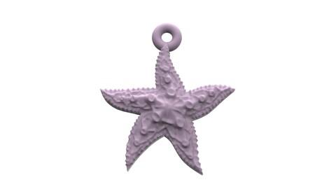 Beautiful Sea star 3D print model