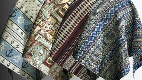 Carpet and tapestry fabric PBR texture