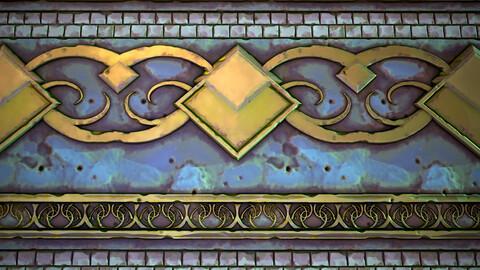 Stylized Wall Trim Material