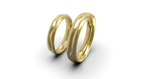 2 lives 1 fate wedding comfort rings 3D print model