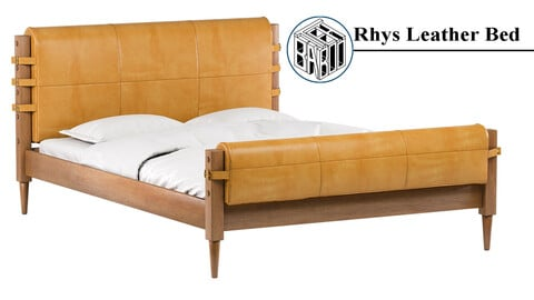 Rhys Leather Bed