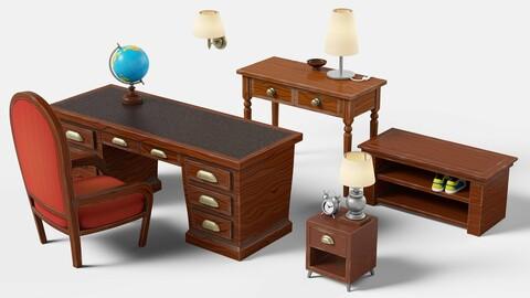 Stylized furniture set