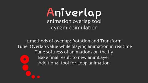 Aniverlap. Animation Overlapping Tool for Maya
