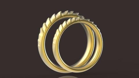 Daenerys Targaryen comfort wedding rings 3D print model