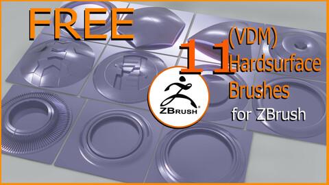 Zbrush VDM Hardsurface Brushes Free