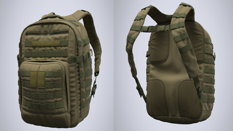 Military tactical backpack (Marvelous Designer / Clo 3D project)
