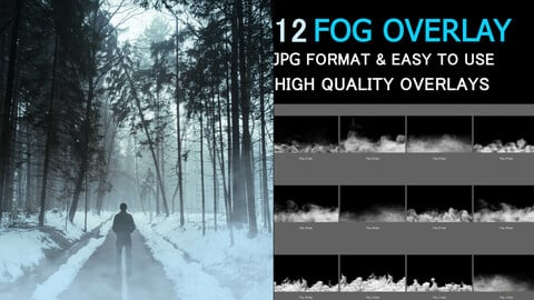 Fog Overlays Photo FX  Texture Bundle Set Dynamic Fog Photo FX Texture
