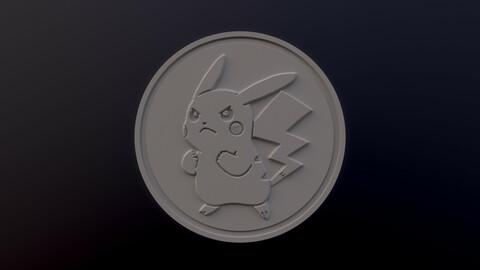 Pikachu 3D printable model - Pokémon collectibles