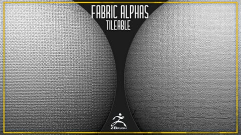 14 Fabric Tileable Alphas Vol.8 (ZBrush, Substance, 2K)