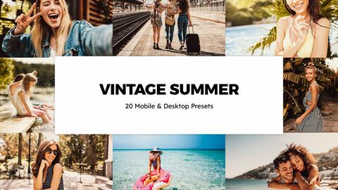 20 Vintage Summer LUTs and Lightroom Presets
