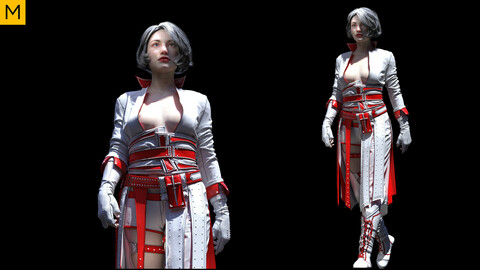 Womens clothing. Avatar genesis 8 Female. Marvelous Designer, Clo3d project + OBJ/FBX files (20)