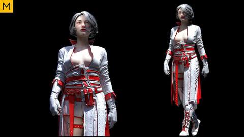 Womens clothing. Avatar genesis 8 Female. Marvelous Designer, Clo3d project + OBJ/FBX files (20)
