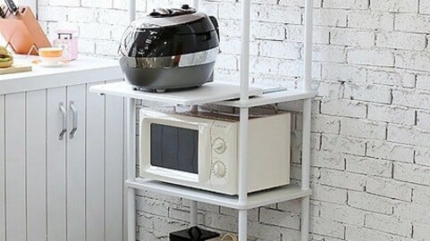 Domestic production sturdy prefabricated 4-tier microwave oven cabinet