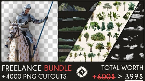Freelance Bundle: +4000 PNG Cutouts + Future packs for FREE
