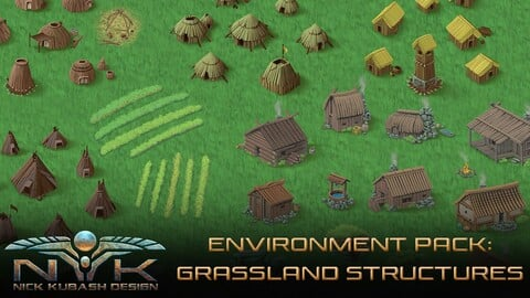 Environment Pack: Grassland Structures