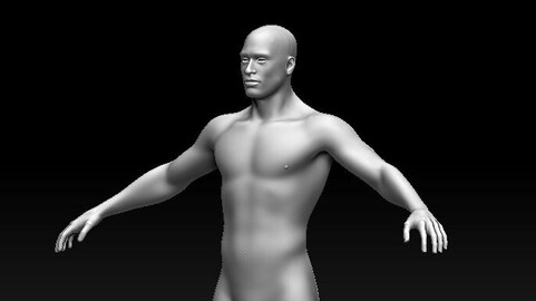 Male Game Ready Base Mesh AAA