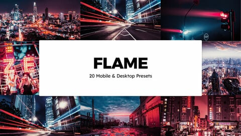 20 Flame LUTs and Lightroom Presets