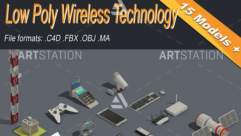 Low Poly Wireless Technology Isometric Icon