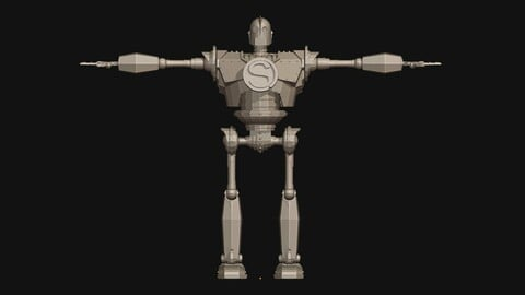 Iron Giant low poly model