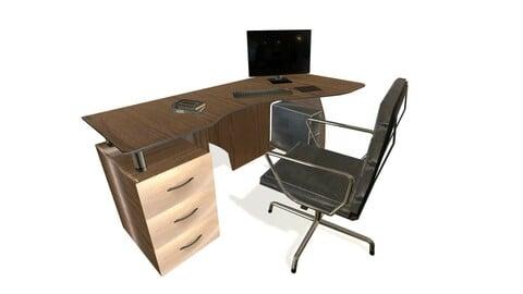 Computer Desk (Low Poly)