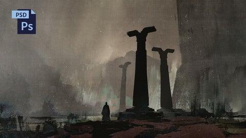 PSD Misty Fantasy Environment