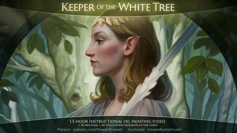 Keeper of the White Tree - Oil Painting Instructional Video