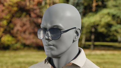 Realistic 3D model of Sunglasses 1