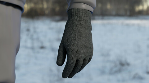Realistic 3D model of Gloves 2