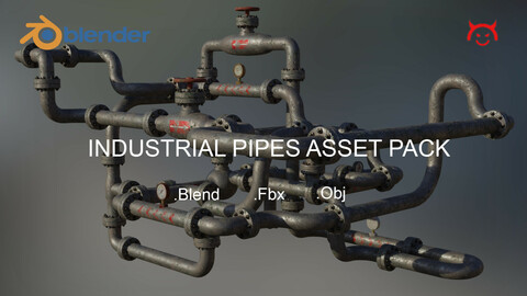 Industrial Pipes Asset Pack