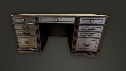 Realistic Vintage Wooden Table