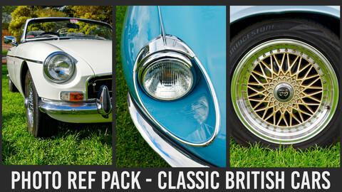Photo Ref Pack - Classic British Cars