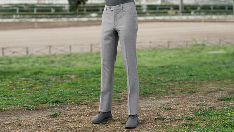 Realistic 3D model of Men's Trousers 1