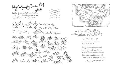 Liath's Inky Cartography Brushes Vol 1