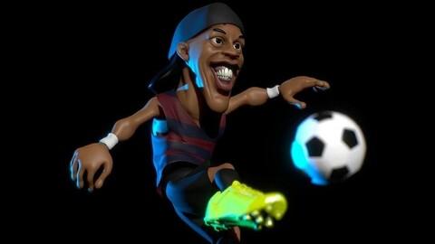 Ronaldinho with the ball - Soccer Foot - STL Digital Files
