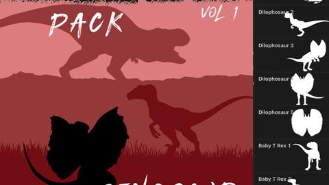 Predator Pack - 36 Dinosaur Brushes for Procreate Vol 1
