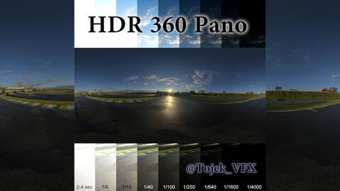 HDR 360 Pano racetrack sunrise03