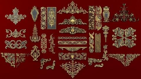 4k Classical ornaments
