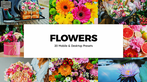 20 Flowers LUTs and Lightroom Presets