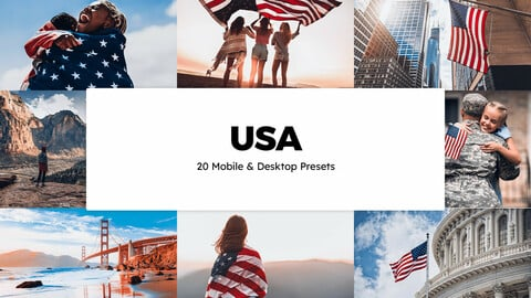20 USA LUTs and Lightroom Presets