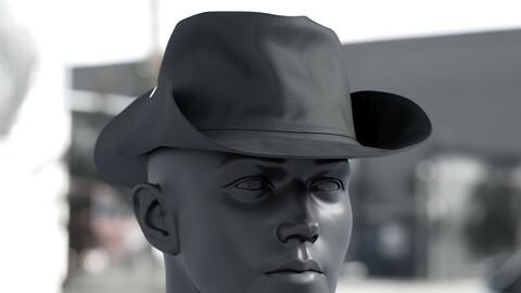 Realistic 3D model of Men's Hat 3