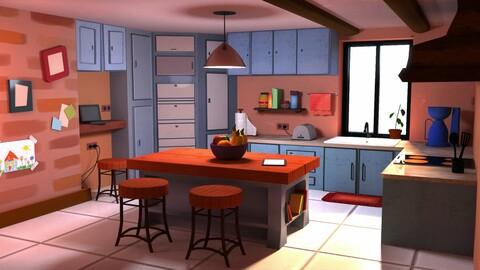 Cartoon Kitchen  stylized