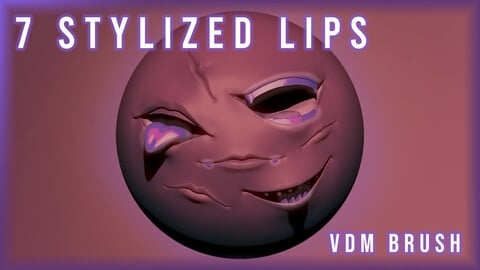 7 Stylized Lips Pack VDM Brush