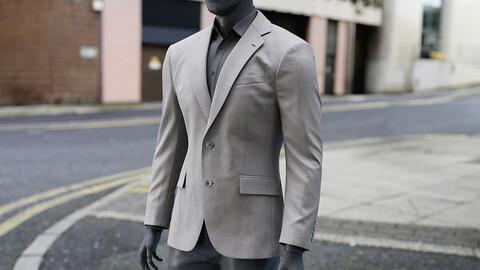 Realistic 3D model of Men's Jacket 2