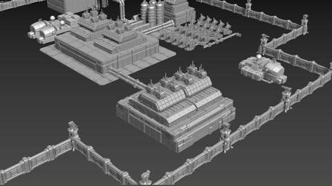 Sci-Fi Military OilRefinary Base