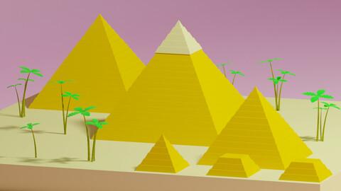 Cartoon Egyptian Pyramid